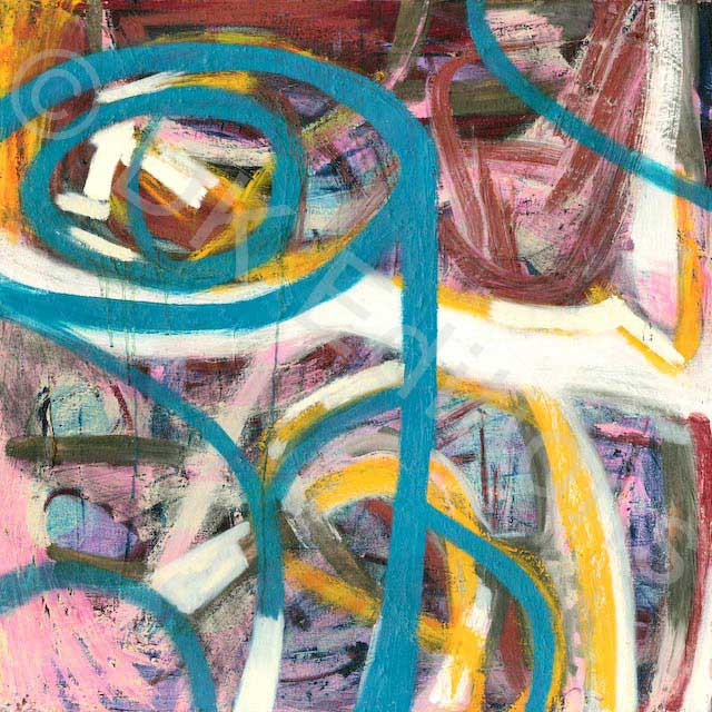 Jackie Lipton, <em>Teal Abstract</em> <br/>Edition of 500