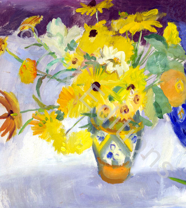 Nancy Beal, <em>Yellow Flowers</em> <br/>Edition of 500